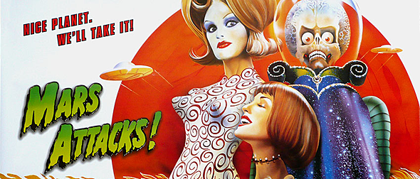 mars big slide - This Week in Horror Movie History - Mars Attacks! (1996)