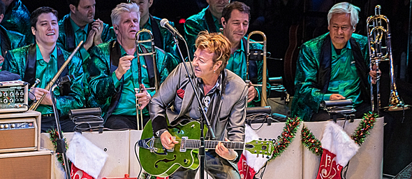 setzer slide - The Brian Setzer Orchestra Spread Holiday Cheer NYCB Theatre At Westbury, NY 11-29-15