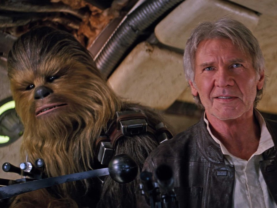 chewbacca harrison ford the force awakens - Star Wars Episode VII: The Force Awakens (Movie Review)