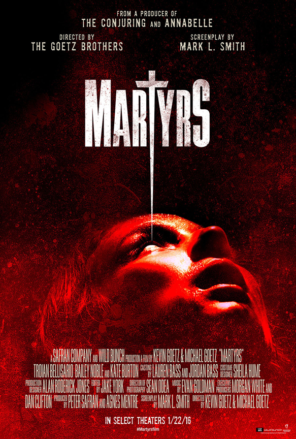 martyrs theatrical poster - Interview - Bailey Noble