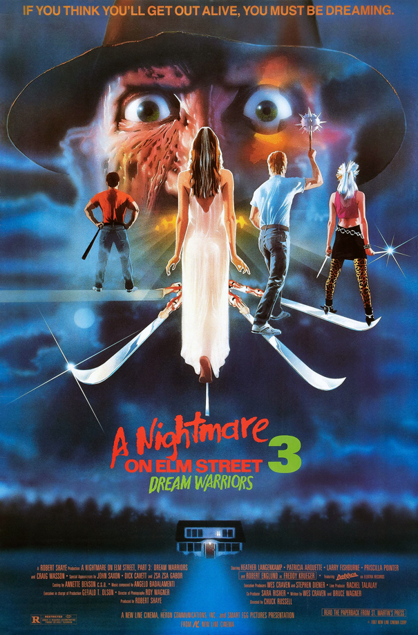 dream poster - This Week in Horror Movie History: A Nightmare on Elm Street 3: Dream Warriors (1987)