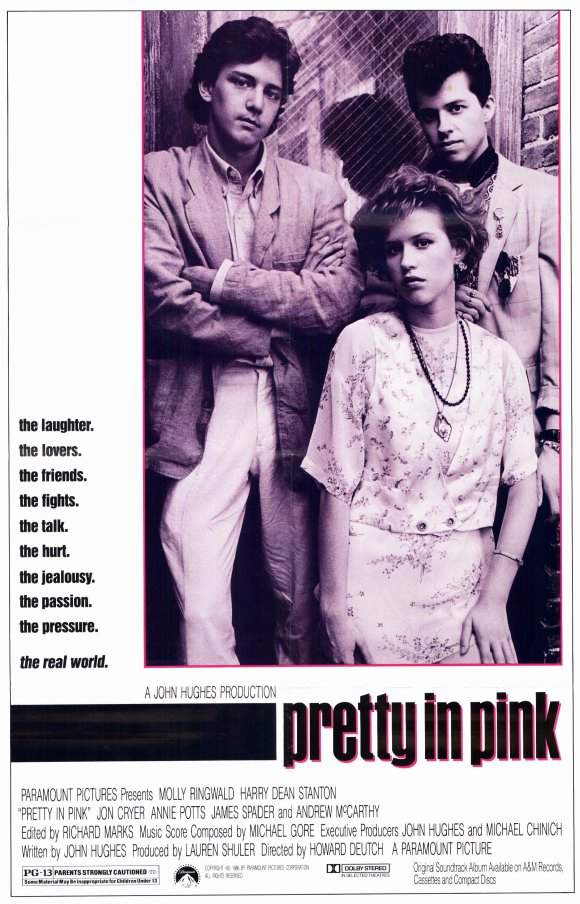1986 pretty in pink poster1 - Pretty in Pink - Decade Defining 30 Years Later