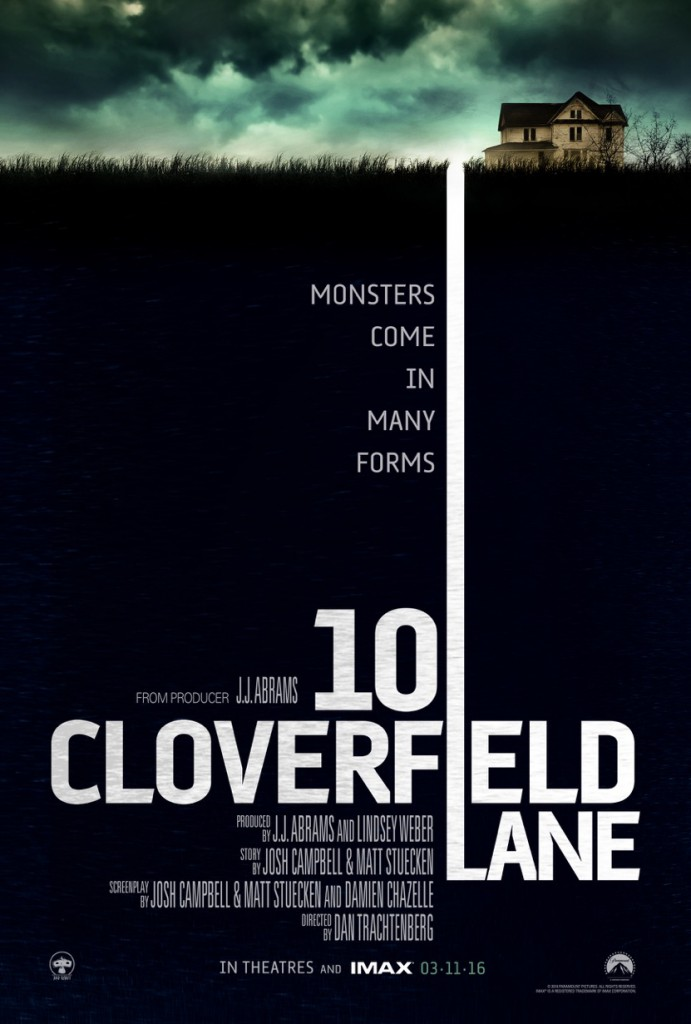 cloverfield lane poster 691x1024 - 10 Cloverfield Lane (movie review)