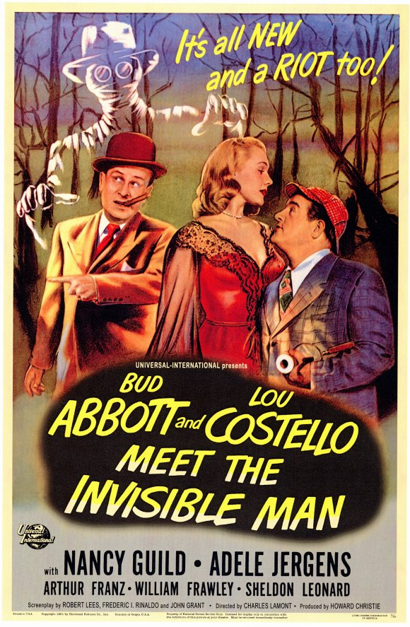 abbott and costello meet the invisible man poster - Abbott and Costello Meet the Invisible Man - An American Classic 65 Years Later