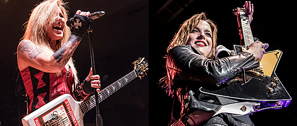 halestorm lita ford slide edited 1 - Halestorm & Lita Ford Light Up At Freedom Hall Johnson City, TN 4-21-16 w/ Dorothy