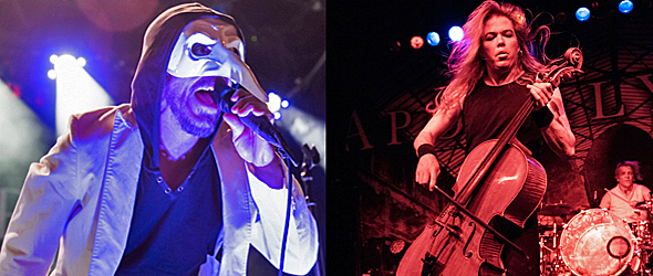 10 years apoc slide - Apocalyptica & 10 Years Capture Irving Plaza, NYC 5-20-16 w/ Failure Anthem