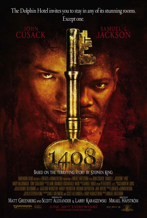 1408 poster - This Week in Horror Movie History - 1408 (2007)