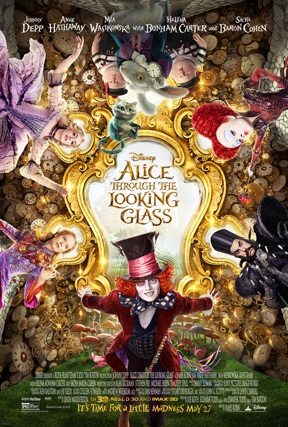 alice through poster - Alice Through the Looking Glass (Movie Review)