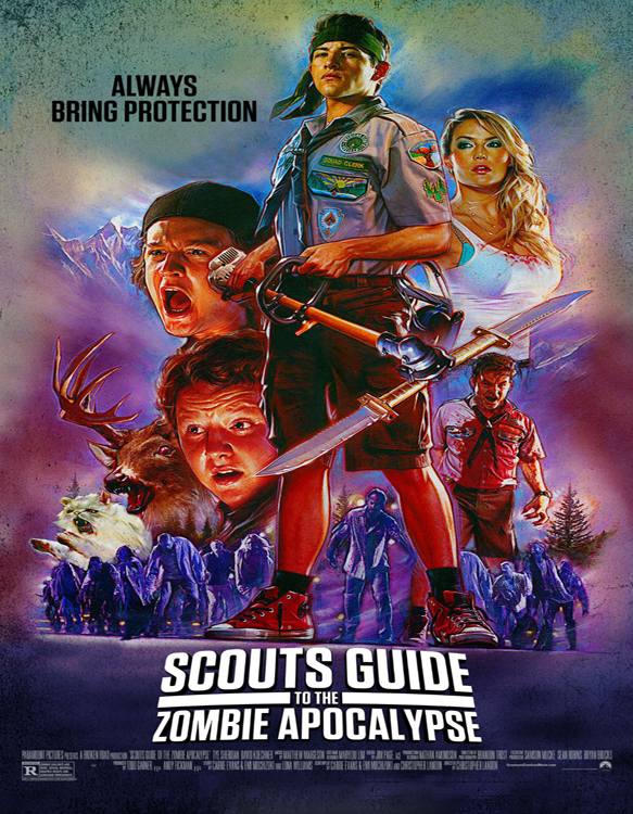 scouts guide to the zombie apocalypse poster art - Scouts Guide to the Zombie Apocalypse (Movie Review)