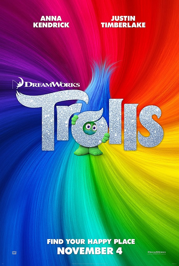 trolls movie poster 2016 - Trolls (Movie Review)
