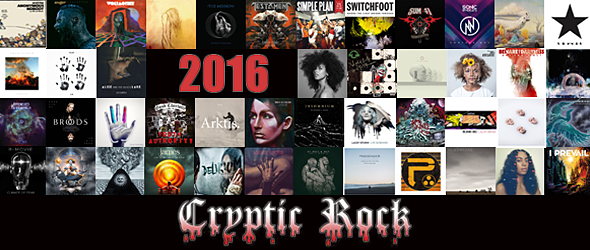 2016 album best of - CrypticRock Presents: The Best Albums of 2016