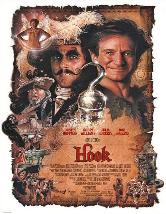 hook 1991 poster - Hook - A Delightful Adventure 25 Years Later