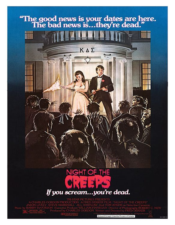night of the creeps poster - Night of the Creeps - It is 30 Years Later...Thrill Me!