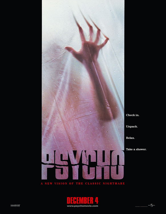 psycho poster - This Week In Horror Movie History - Psycho (1998)