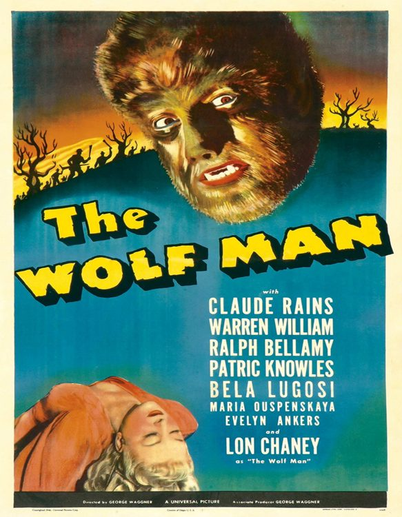 wolfman poster 1941 - The Wolf Man - Hair-raising 75 Years Later