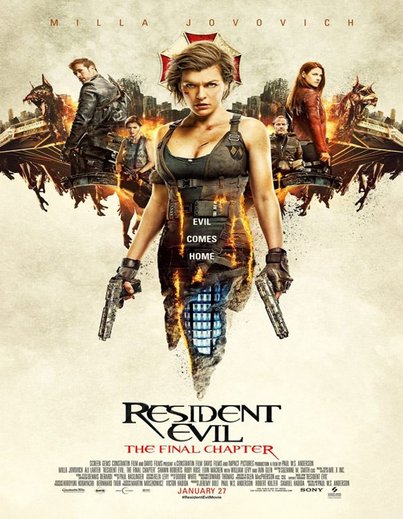 last resident evil poster - Resident Evil: The Final Chapter (Movie Review)