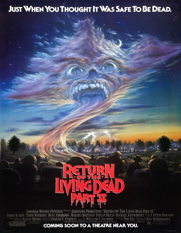 return of living dead 2 poster - This Week In Horror Movie History - Return of the Living Dead Part II (1988)