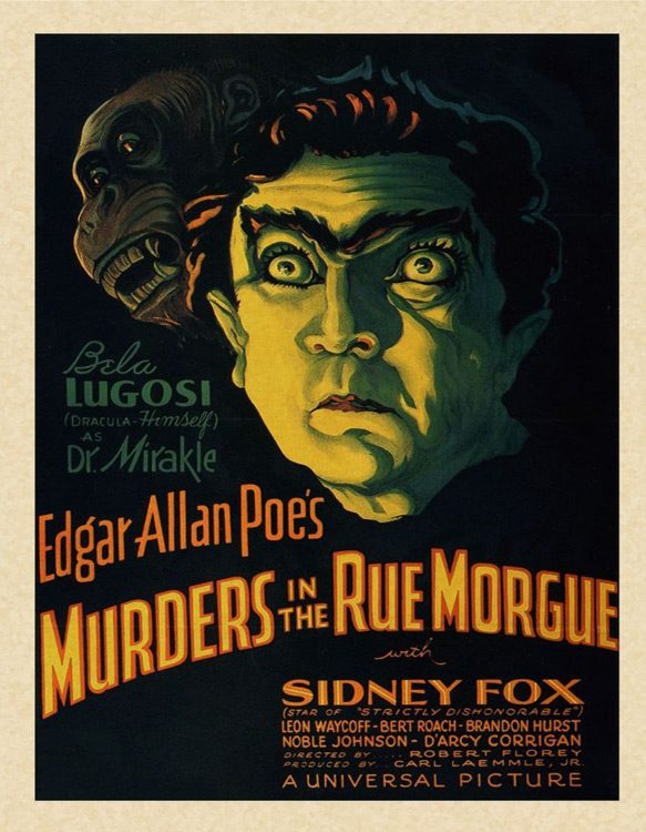 murder poster - Murders in the Rue Morgue - A Cinematic Gem 85 Years Later