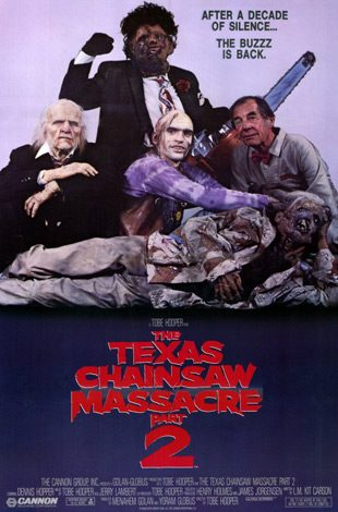 1986 the texas chainsaw massacre 2 poster for article - Interview - Bill Moseley & Phil Anselmo