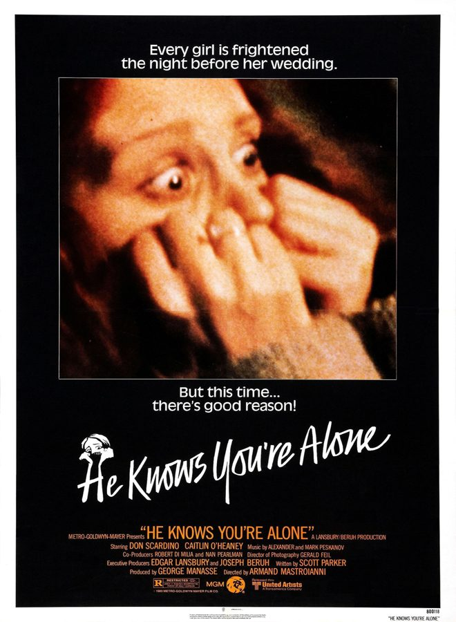 POSTER HE KNOWS YOURE ALONE - This Week in Horror Movie History - He Knows You're Alone (1980)