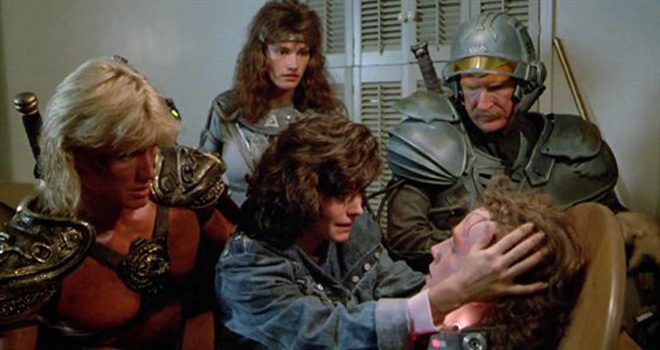 Courtney Cox in Masters of the Universe which is a He-Man movie starring Courtney Cox called Masters of the Universe.