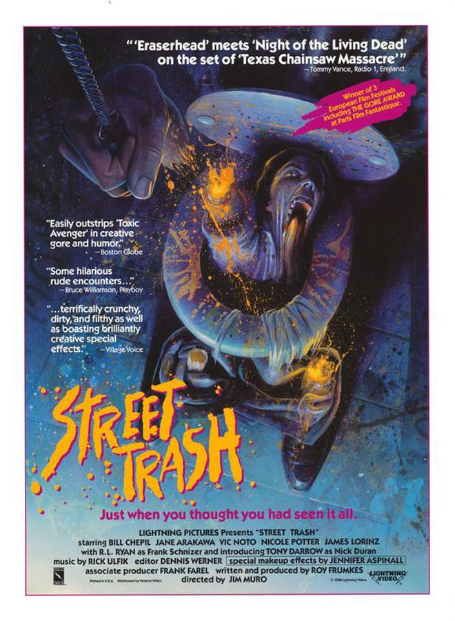 street trash movie poster - Street Trash - 30 Years Of Filthy Fun