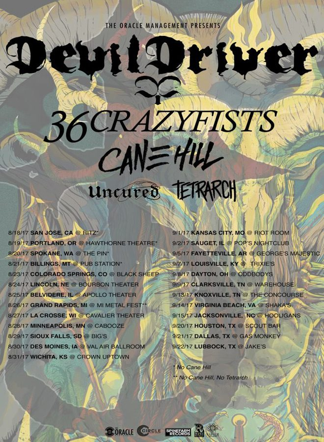 tour poster - Interview - Diamond Rowe of Tetrarch