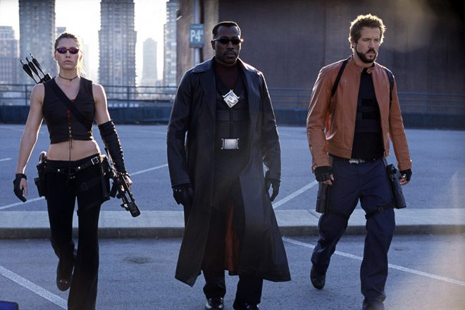 blade threesome - This Week In Horror Movie History - Blade: Trinity (2004)