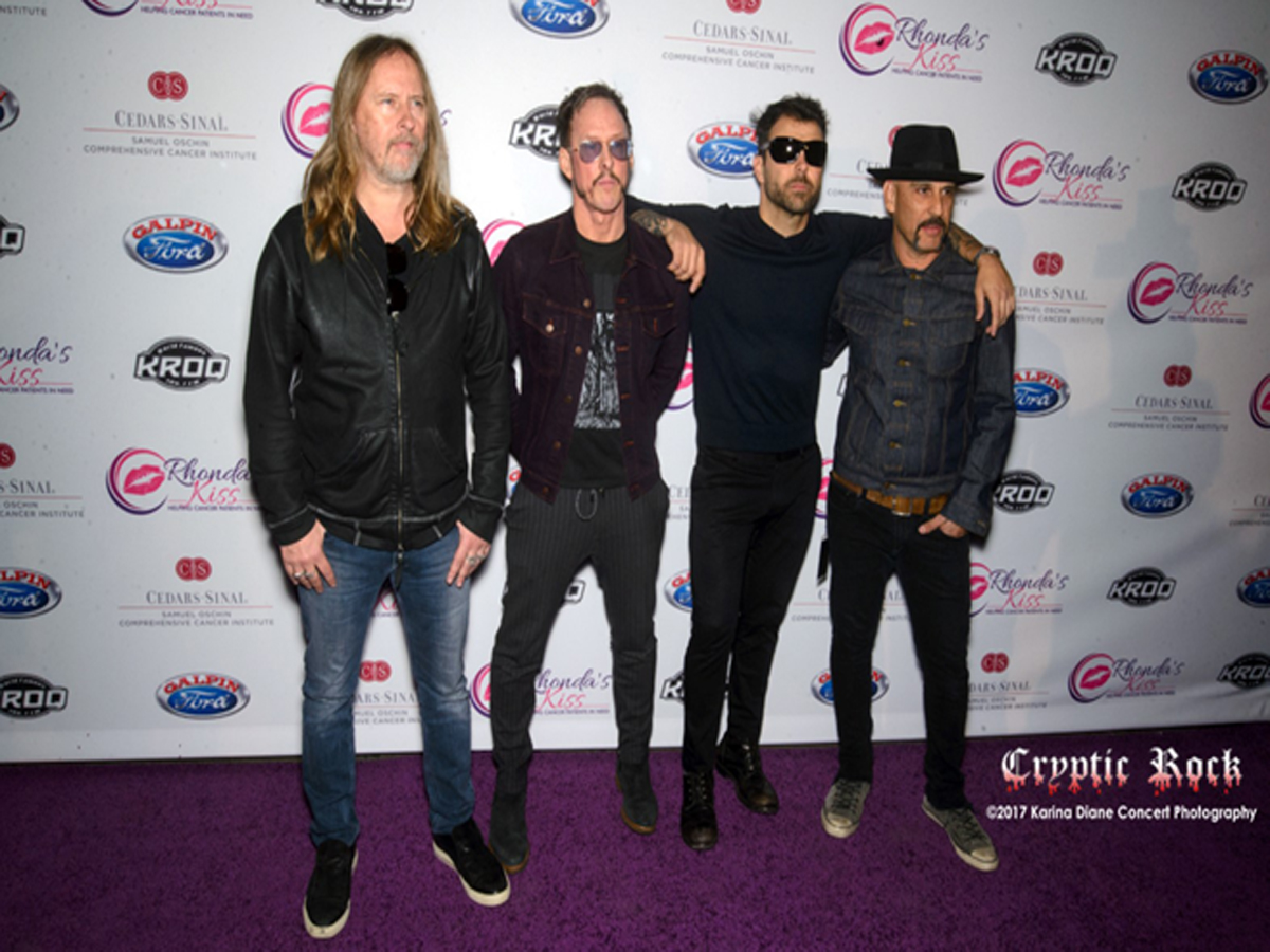 Jerry Cantrell, Scott Shriner, Franky Perez _ Dave Kushner of Hellcat Saints