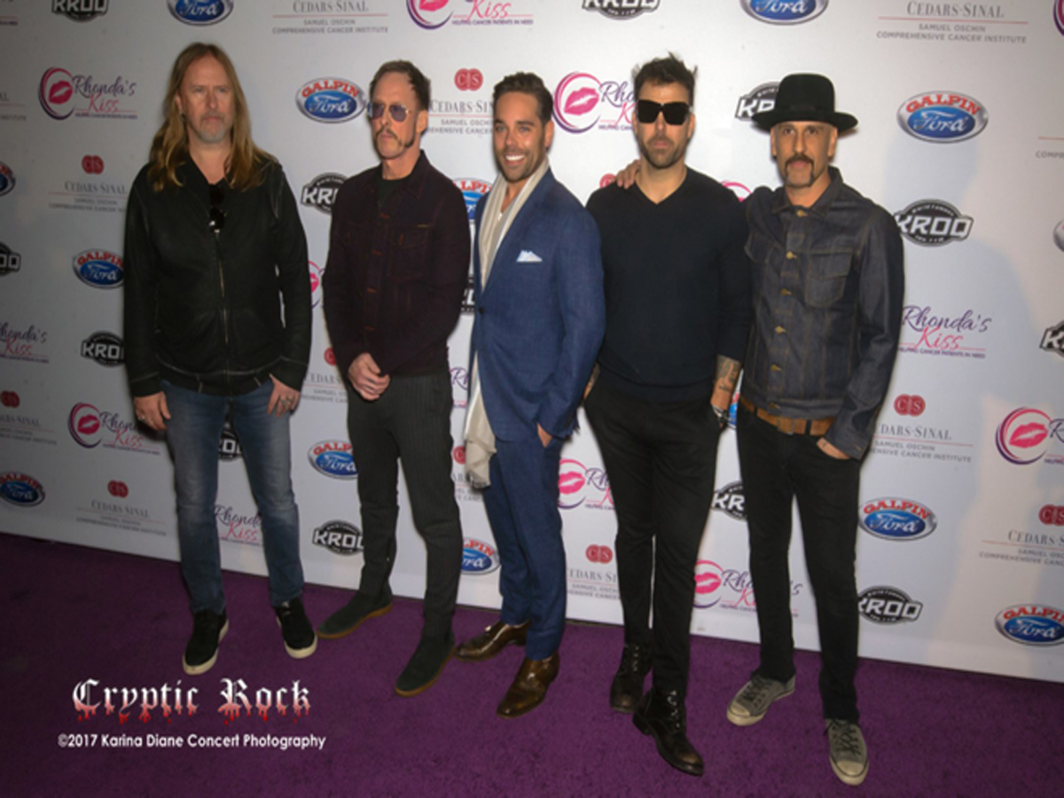 Rhonda_s Kiss CEO Kyle Stefanski (Center), Jerry Cantrell, Scott Shriner, Franky Perez _ Dave Kushner of Hellcat Saints
