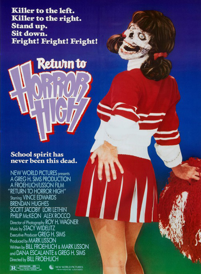 return poster 2 - This Week In Horror Movie History - Return to Horror High (1987)