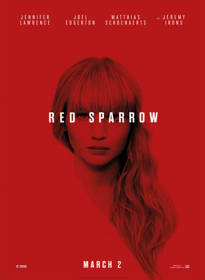 red poster - Red Sparrow (Movie Review)