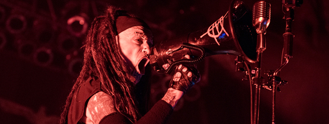 Ministry TheParamount 2018 slide - Ministry Spark The Paramount Huntington, NY 4-19-18  w/ Chelsea Wolfe & The God Bombs