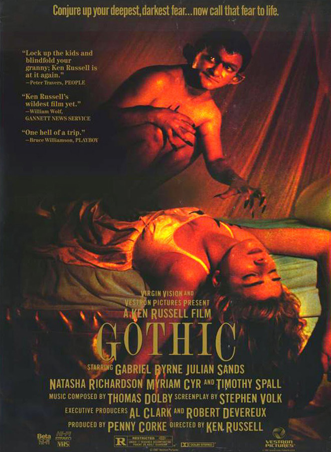 gothic poster - This Week In Horror Movie History - Gothic (1987)