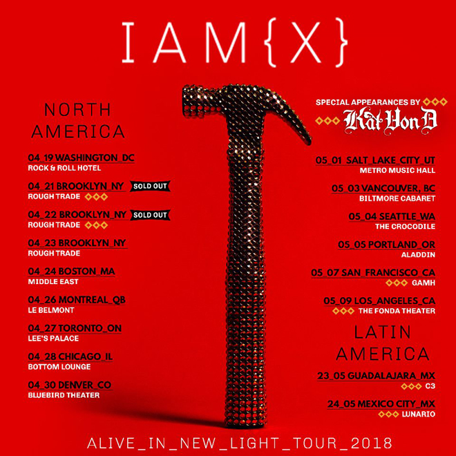 iamx tour - Interview - Chris Corner of IAMX Talks Alive in New Light