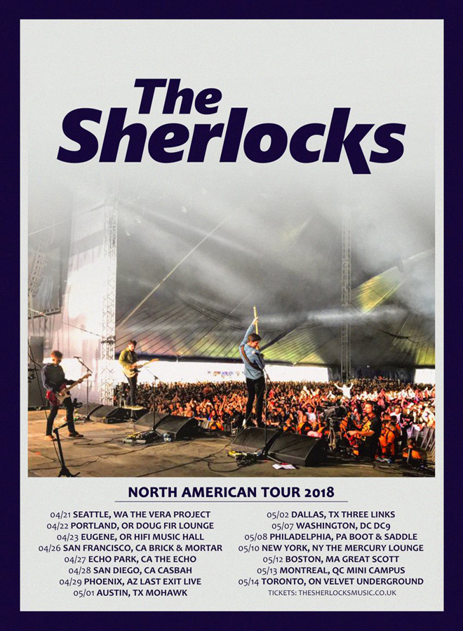sherlocks tour poster - Interview - Kiaran Crook of The Sherlocks