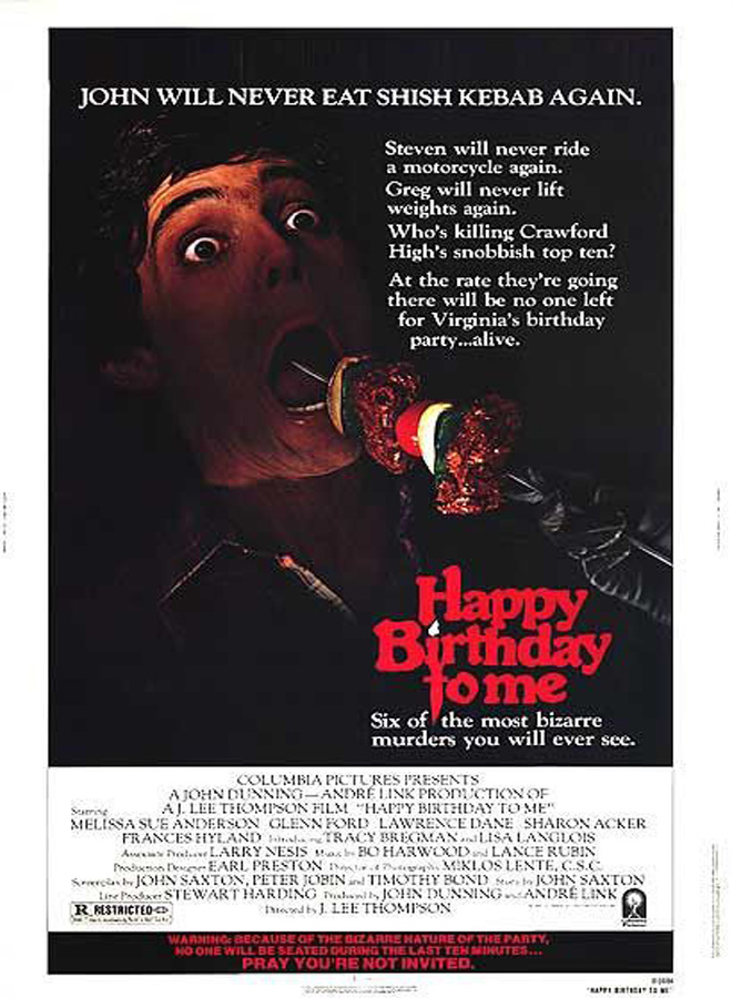 happy birthday to me - This Week In Horror - Happy Birthday to Me (1981)