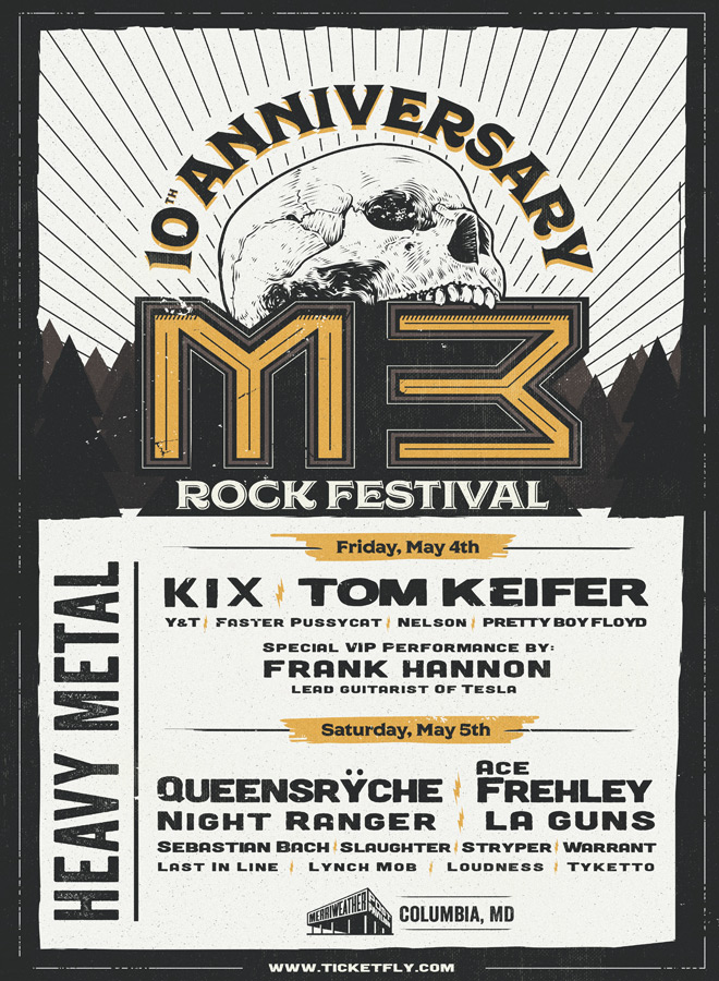 m3 2018 poster - M3 Rock Festival Returns To Celebrate 10 Years