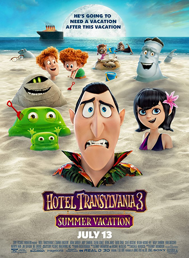 hotel 3 poster - Hotel Transylvania 3: Summer Vacation (Movie Review)