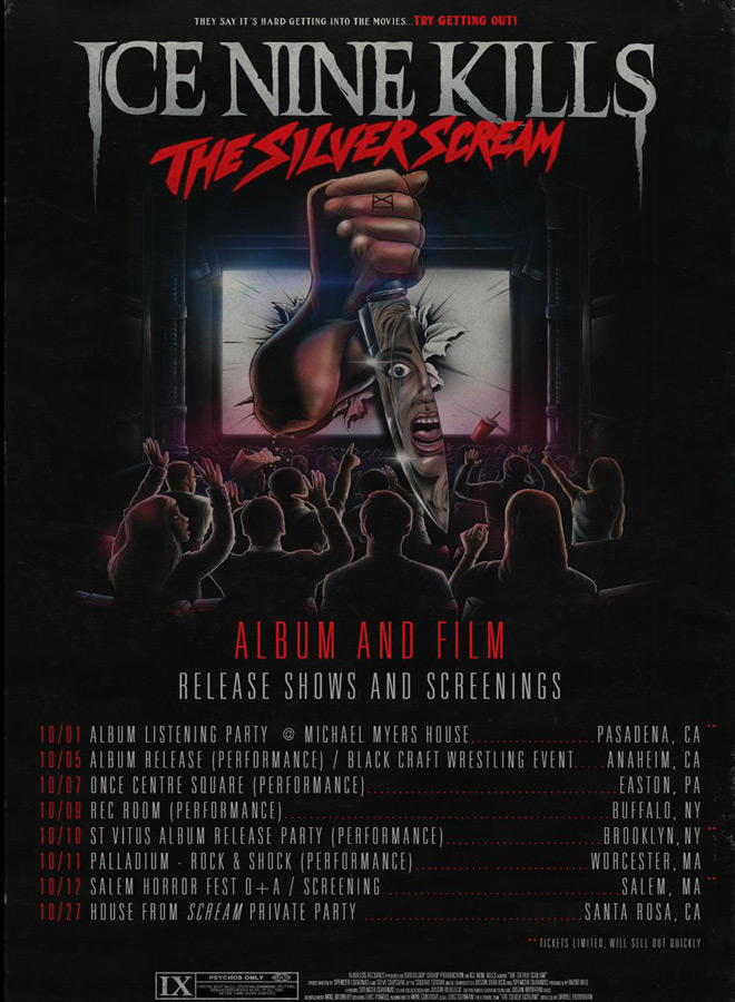 Ice Nine Kills The Silver Scream tour Dates - Interview - Spencer Charnas of Ice Nine Kills