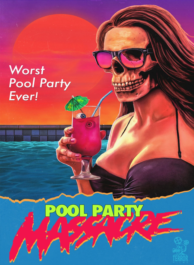 Pool Party Massacre Drew Marvick Poster - Pool Party Massacre (Movie Review)