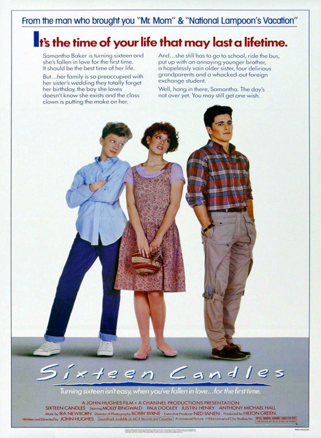 sixteen candles poster - Celebrating Sixteen Candles 35 Years Later