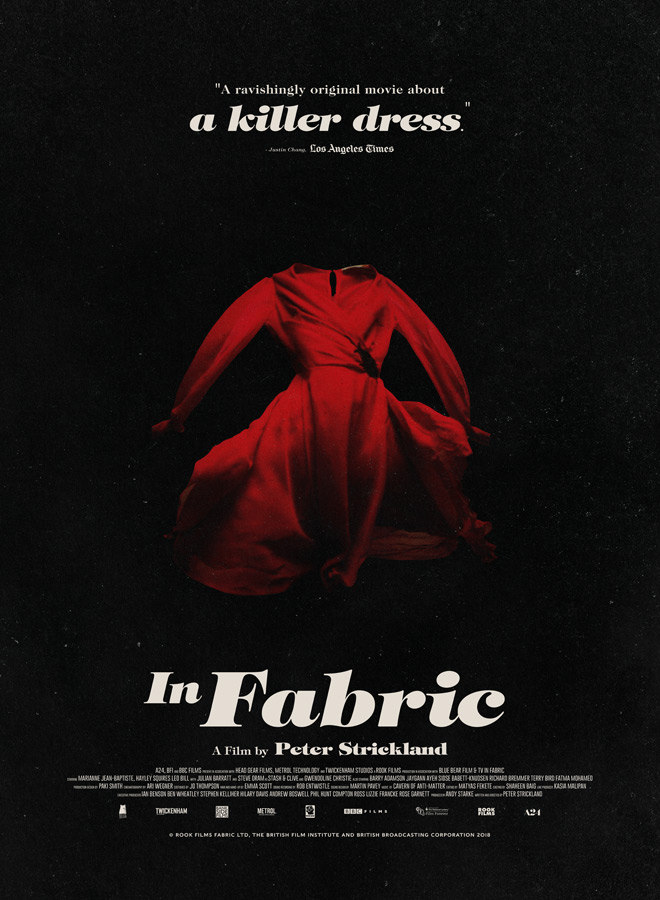 in fabric poster - In Fabric (Movie Review)