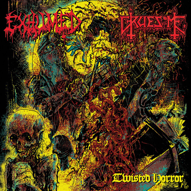 exhumed album - Exhumed & Gruesome - Twisted Horror (Split Review)