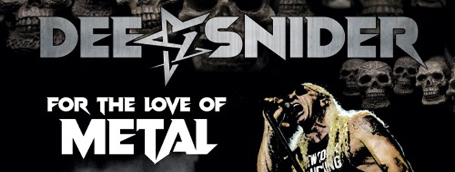 dee snider live slide - Dee Snider - For The Love Of Metal Live (CD/DVD Review)